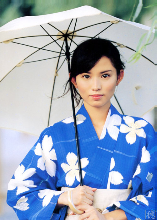 夏日和风吹来 日本和服美女图 视觉诱惑